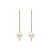 Pearl and Diamond Stick Earrings