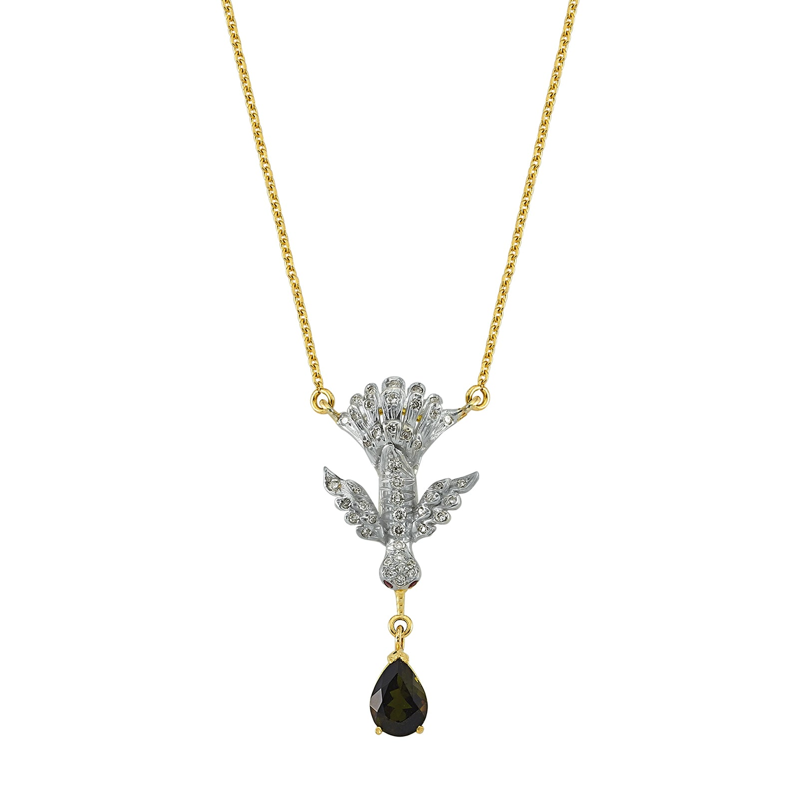 Aida Bergsen Anka Necklace - Black Tourmaline - Necklaces - Broken English Jewelry