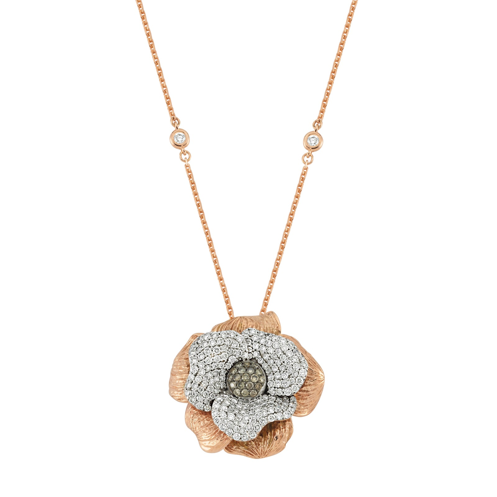 Aida Bergsen Flora Necklace - Diamond - Necklaces - Broken English Jewelry