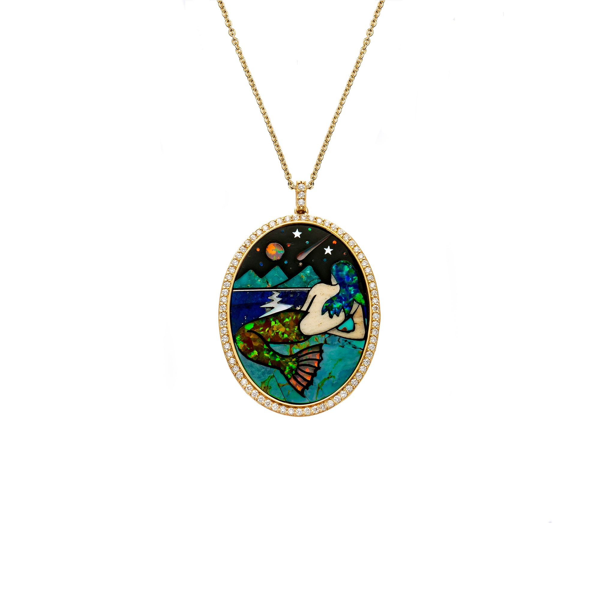 Jenny Dee Cosmic Mermaid Necklace - Necklaces - Broken English Jewelry