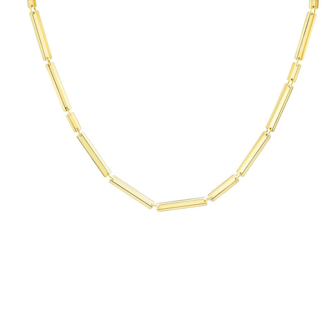 "Rectangle VIA Necklace 18"" - MISUI - Necklaces 