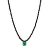 Colette Single Drop Emerald Necklace - Necklaces - Broken English Jewelry