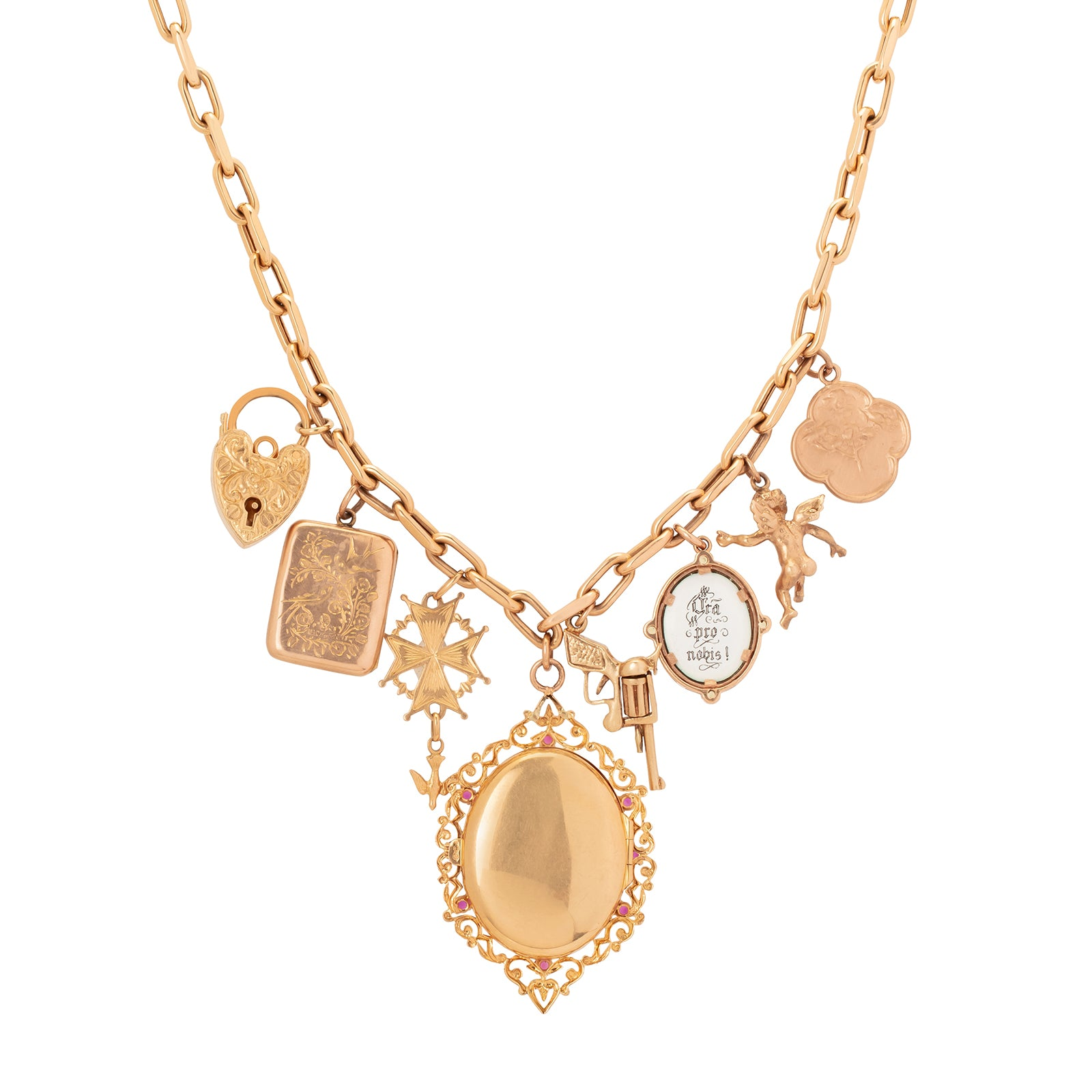 Colette Charms & Locket Necklace - Necklaces - Broken English Jewelry
