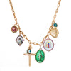 Colette Cross & Locket Charm Necklace - Necklaces - Broken English Jewelry