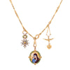 Colette Vintage Chain & Charm Necklace - Necklaces - Broken English Jewelry