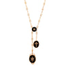 Colette Vintage Chain & Black Lockets - Necklaces - Broken English Jewelry