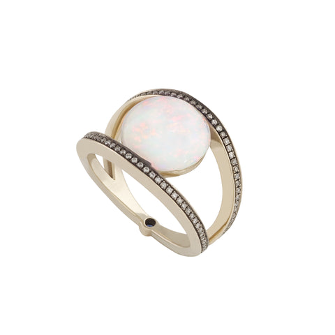 Opal Rhombus Ring by Noor Fares for Broken English Jewelry
