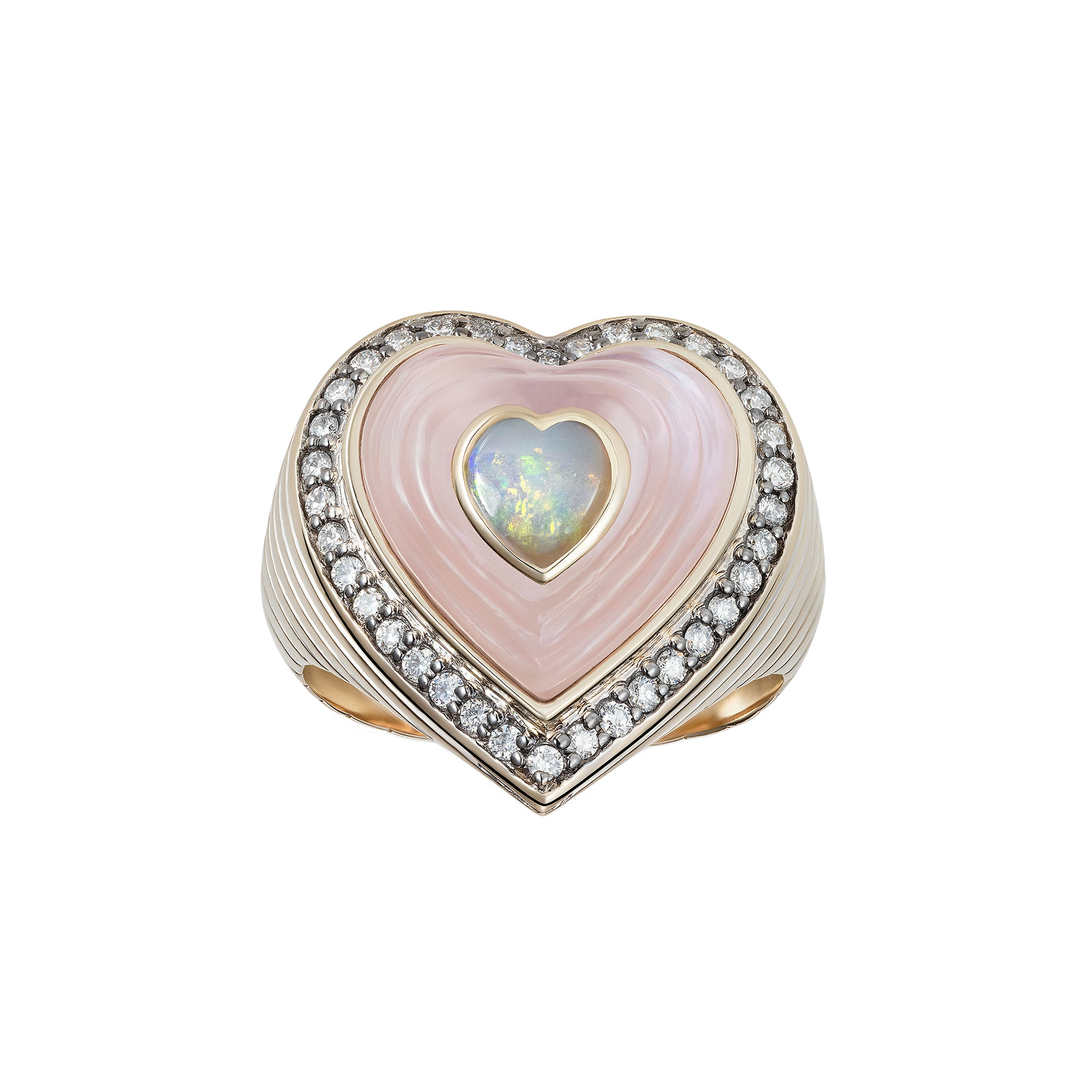 Anahata Heart Ring by Noor Fares for Broken English Jewelry