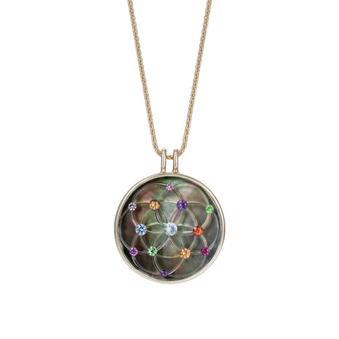 Akasha Rainbow Pendant by Noor Fares for Broken English Jewelry