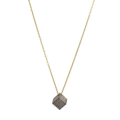 Solid Cube Pendant by Noor Fares for Broken English Jewelry