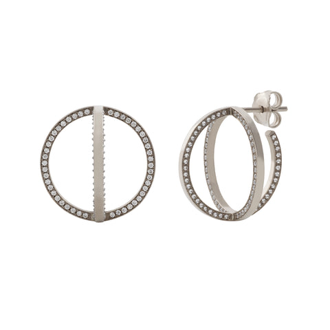 Tilsam Creole Hoops by Noor Fares for Broken English Jewelry