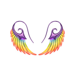 Rainbow Wing Earrings by Noor Fares for Broken English Jewelry