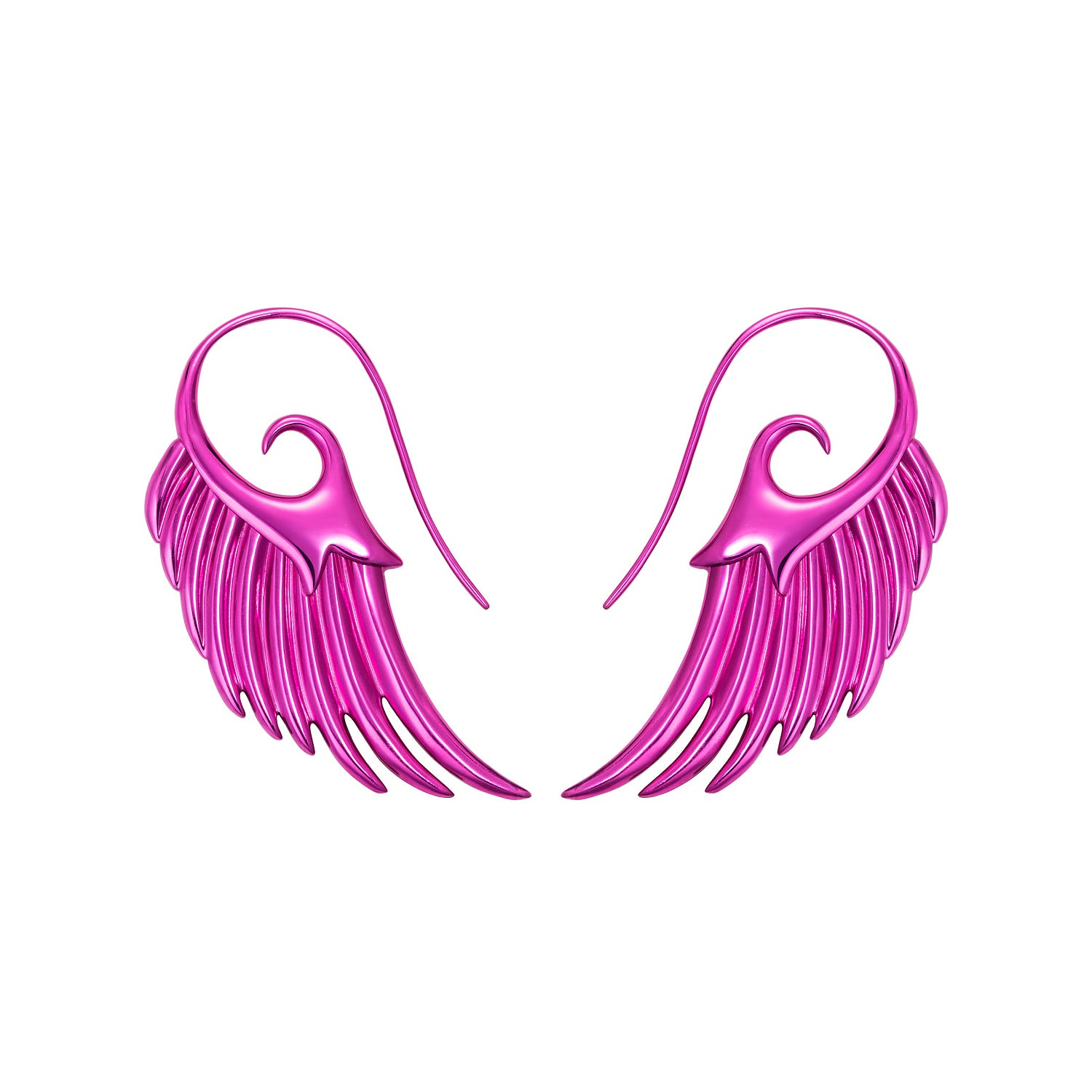 Pink Wing Earrings by Noor Fares for Broken English Jewelry