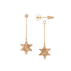 Merkaba Drop Earrings by Noor Fares for Broken English Jewelry