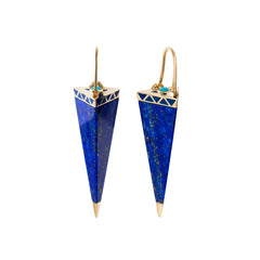Vishuada Long Drop Earrings by Noor Fares for Broken English Jewelry