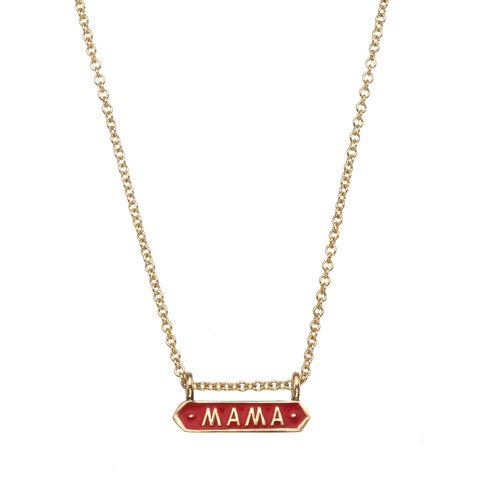 Red Mama Signet Necklace - Nora Kogan - Necklaces | Broken English Jewelry