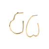 Heart Hoops - Nora Kogan - Earrings | Broken English Jewelry