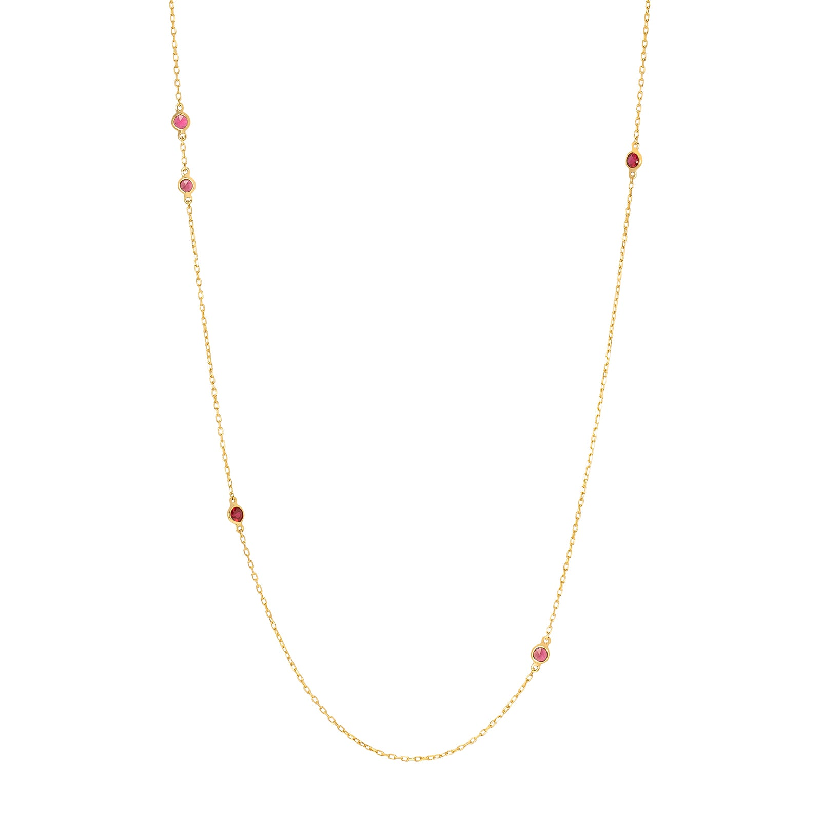 YI Collection Ruby Dot Necklace - Necklaces - Broken English Jewelry