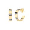 Nancy Newberg Diamond Stripe Hoops - Earrings - Broken English Jewelry