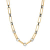 Nancy Newberg Elongated Oval Link Necklace -  Black Diamond - Necklaces - Broken English Jewelry