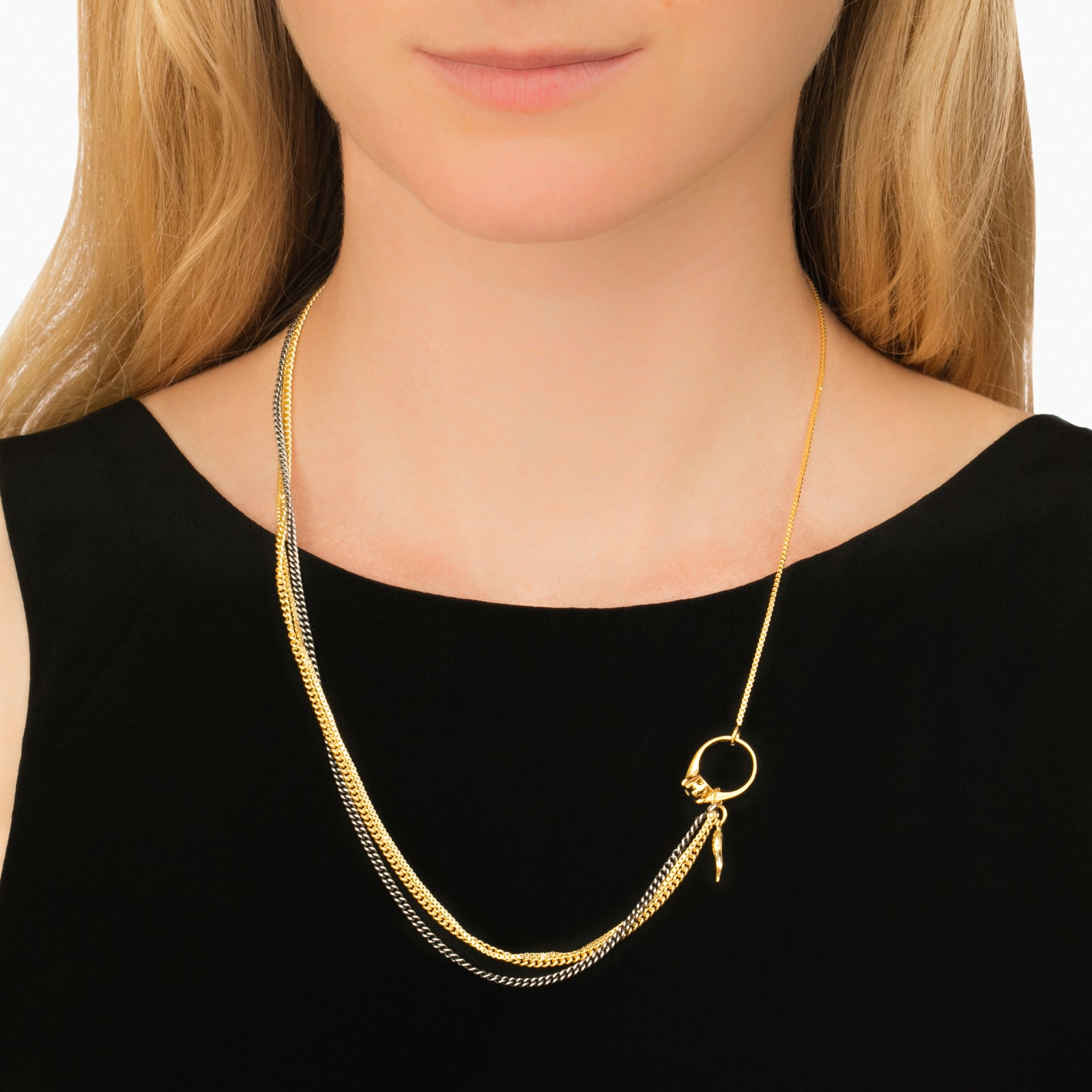 Little Horn Chain Necklace - Ioselliani - Necklaces | Broken English Jewelry