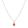 YI Collection Two Toned Ruby Whispers Necklace - Necklaces - Broken English Jewelry