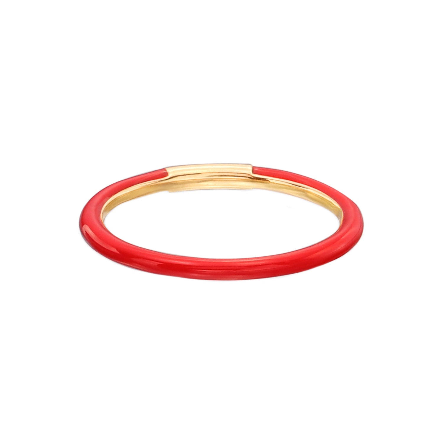 Red Enamel Band by Nina Runsdorf for Broken English Jewelry