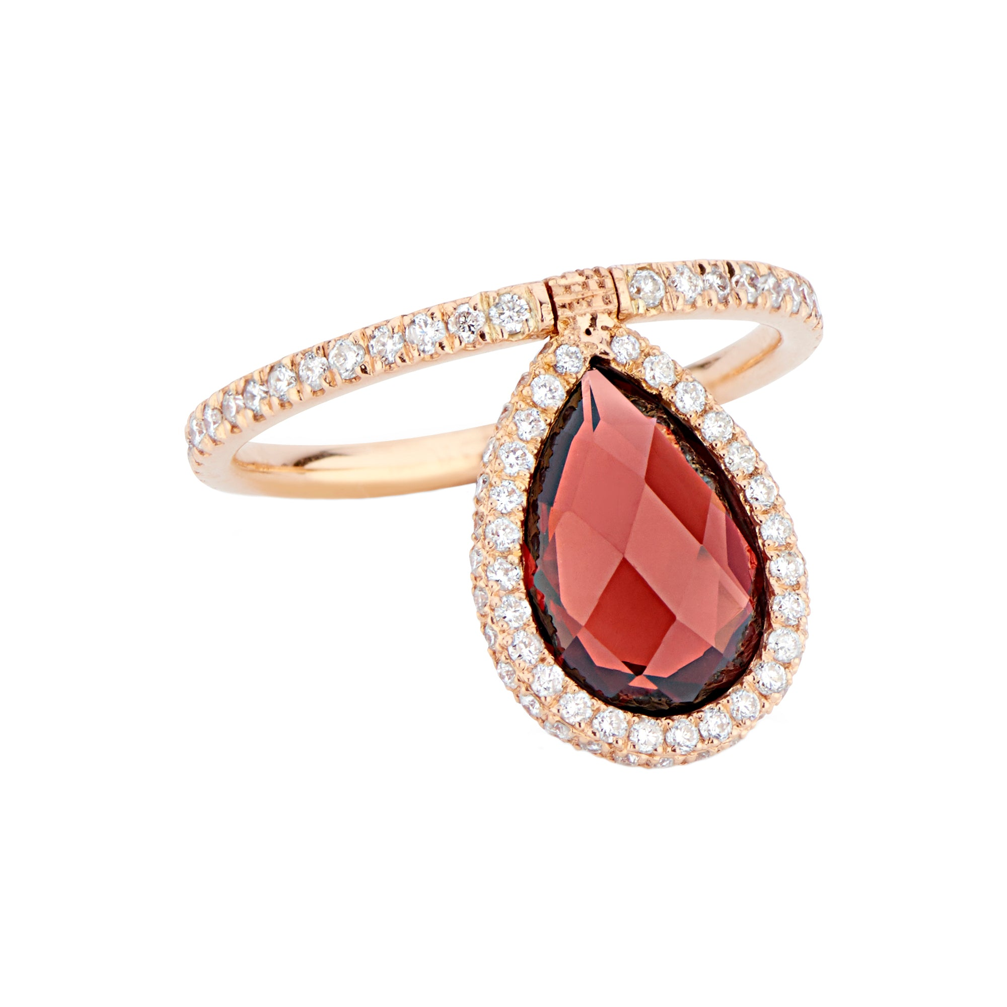 Medium Garnet Flip Ring by Nina Runsdorf for Broken English Jewelry