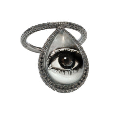 Painted Eye Flip Ring by Nina Runsdorf and Nir Hod for Broken English Jewelry