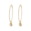 Nina Runsdorf Flip Citrine & Diamond String Hoops - Earrings - Broken English Jewelry