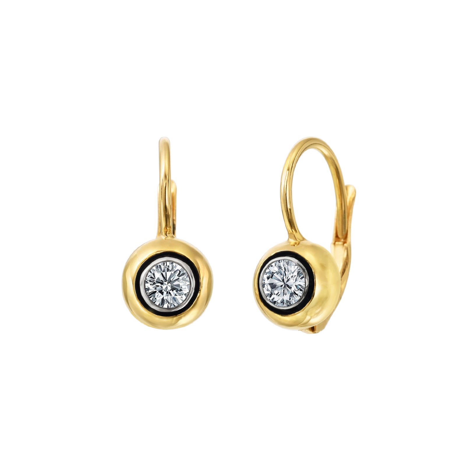 Nina Runsdorf All That Is Single Round Diamond Drop Earrings - Earrings - Broken English Jewelry
