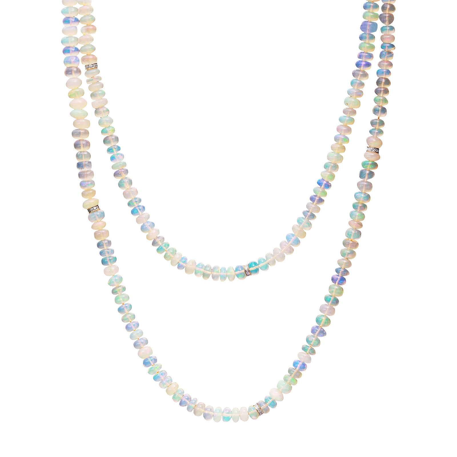 Nina Runsdorf Opal Bead Necklace - Necklaces - Broken English Jewelry