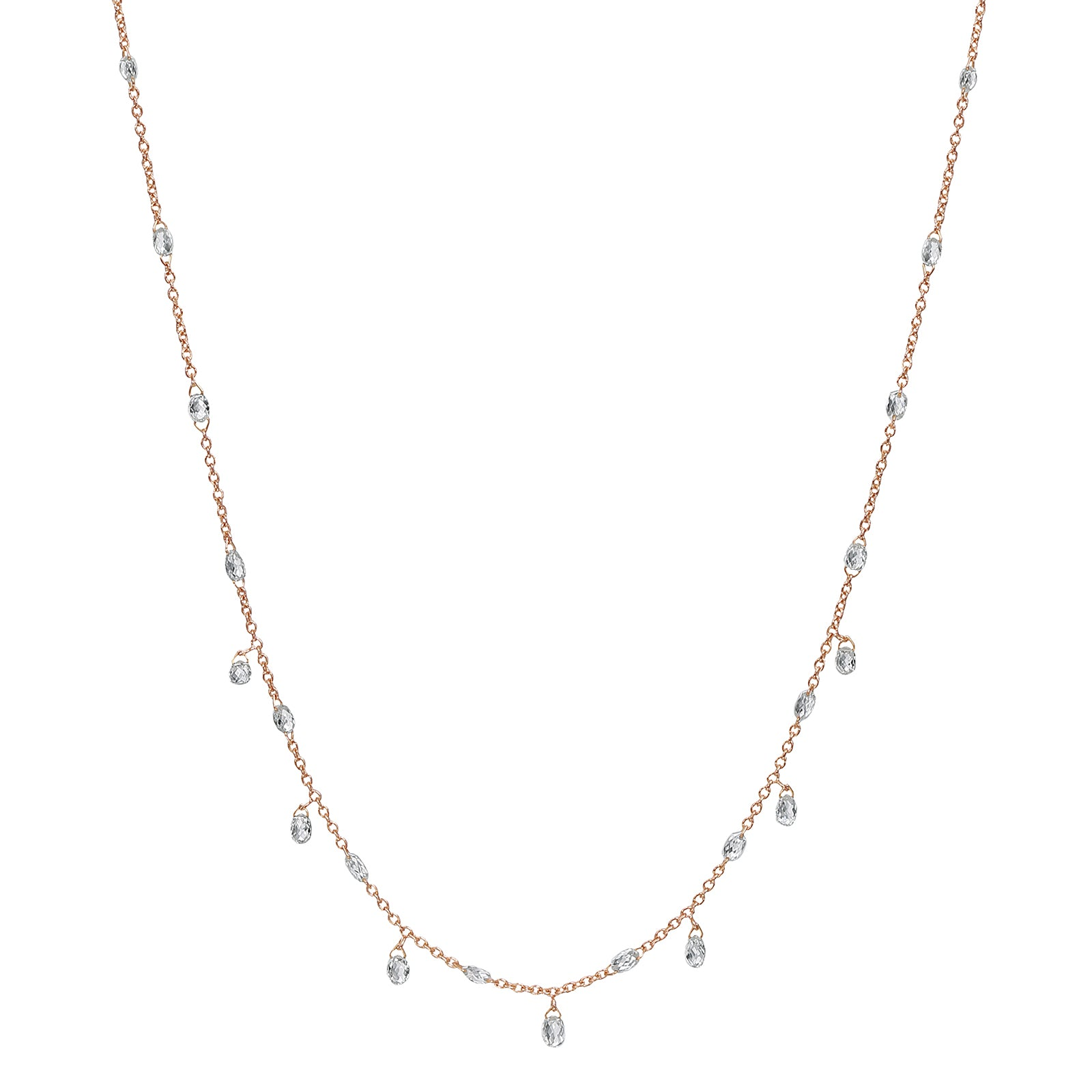 Nina Runsdorf Briolette Diamond Chain Necklace - Necklaces - Broken English Jewelry