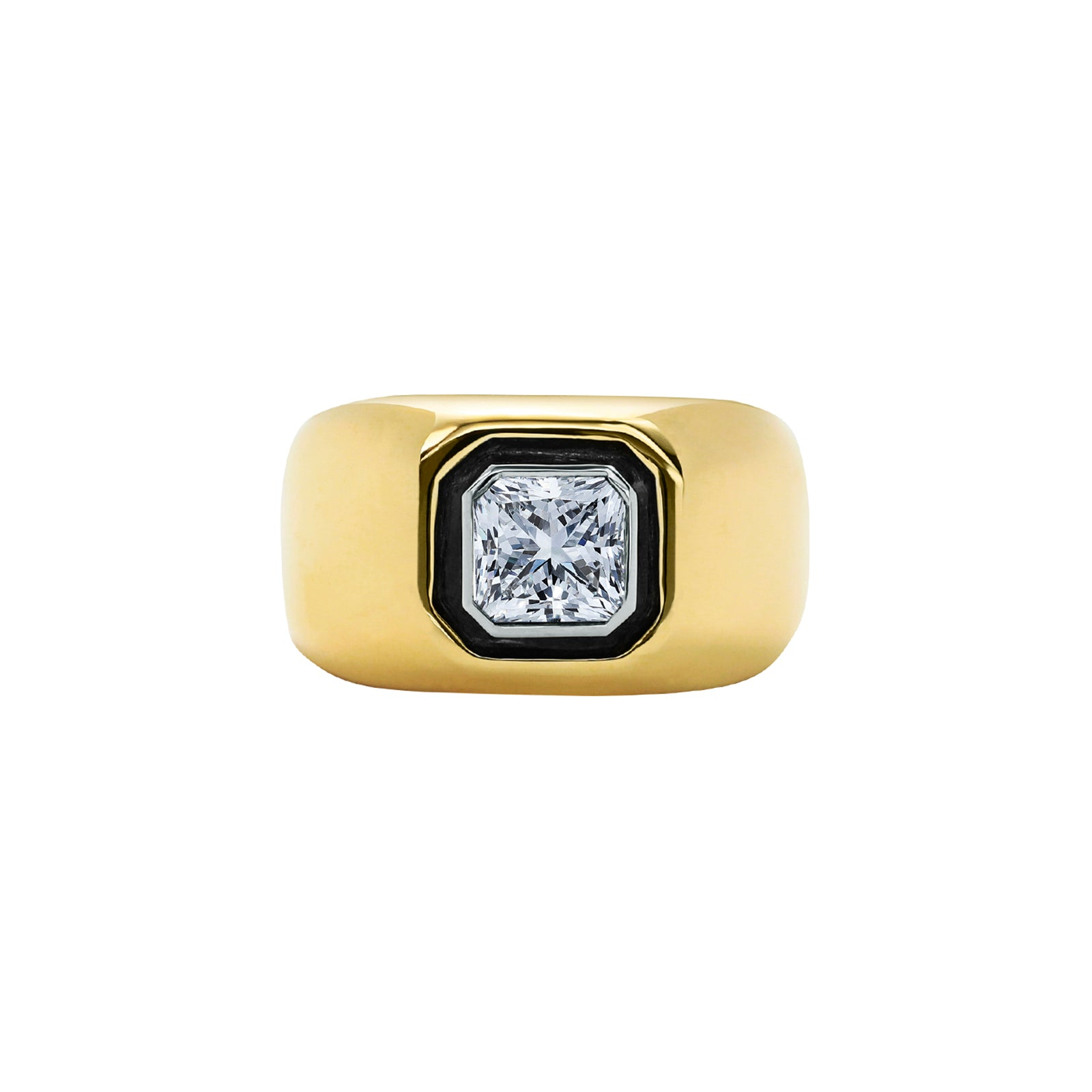 Nina Runsdorf All That Is Radiant Cut Diamond Pinky Ring - Rings - Broken English Jewelry