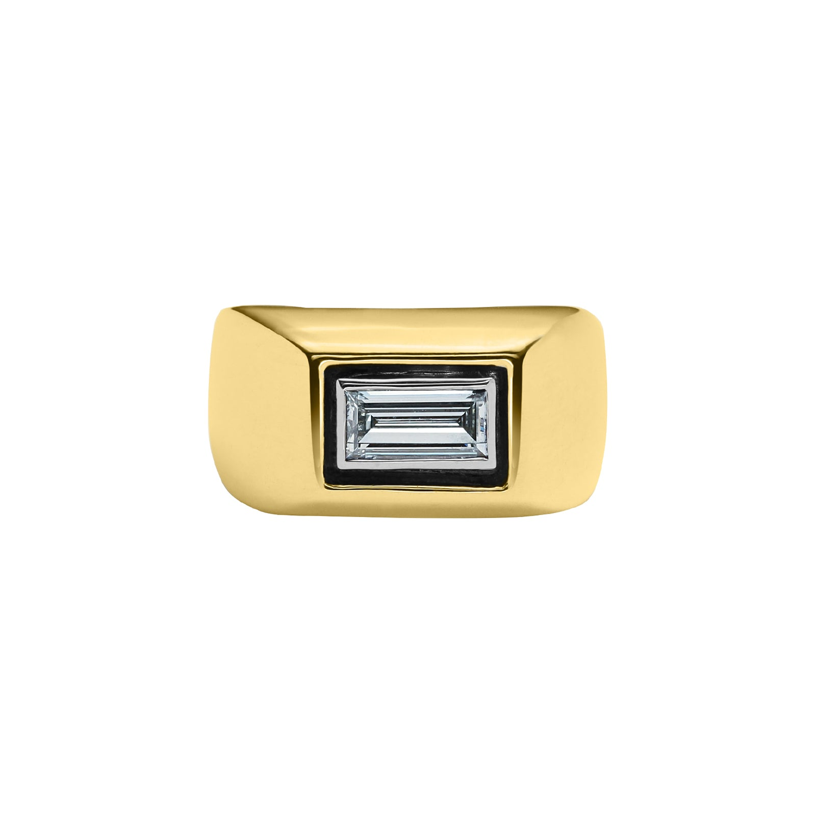Nina Runsdorf All That Is Emerald Cut Diamond Pinky Ring - Rings - Broken English Jewelry