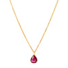 YI Collection Ruby Tear Drop Whispers Necklace - Necklaces - Broken English Jewelry