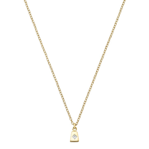 Chain Reaction Cowbell Necklace - Ilene Joy - Necklaces | Broken English Jewelry