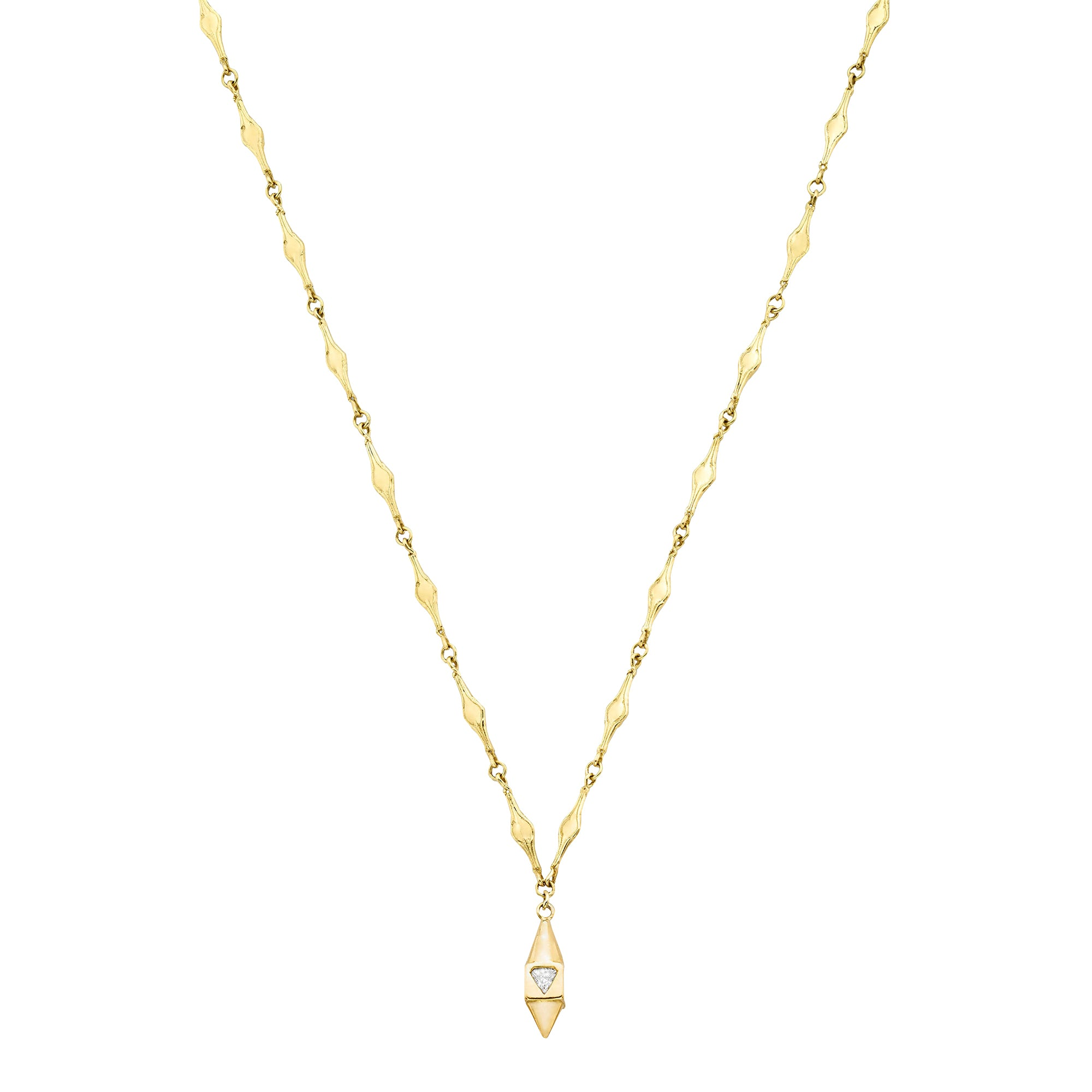 Libertine Square Pendulum Necklace  - Ilene Joy - Necklaces | Broken English Jewelry