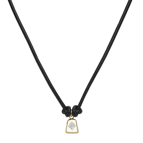 Black Butter Cowbell Necklace - Ilene Joy - Necklaces | Broken English Jewelry