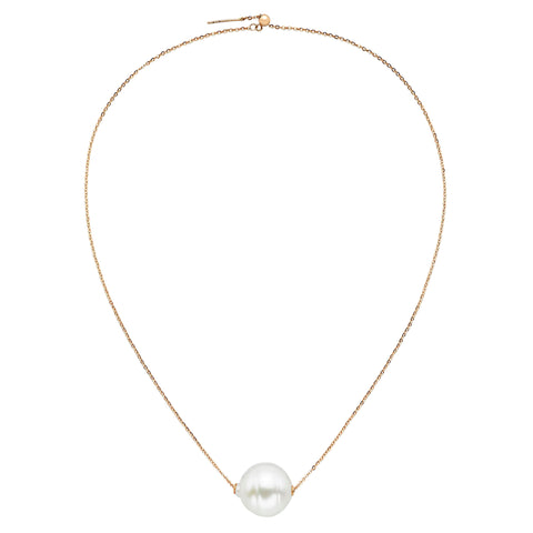 Ball & Chain Pearl Necklace  - Ilene Joy - Necklaces | Broken English Jewelry