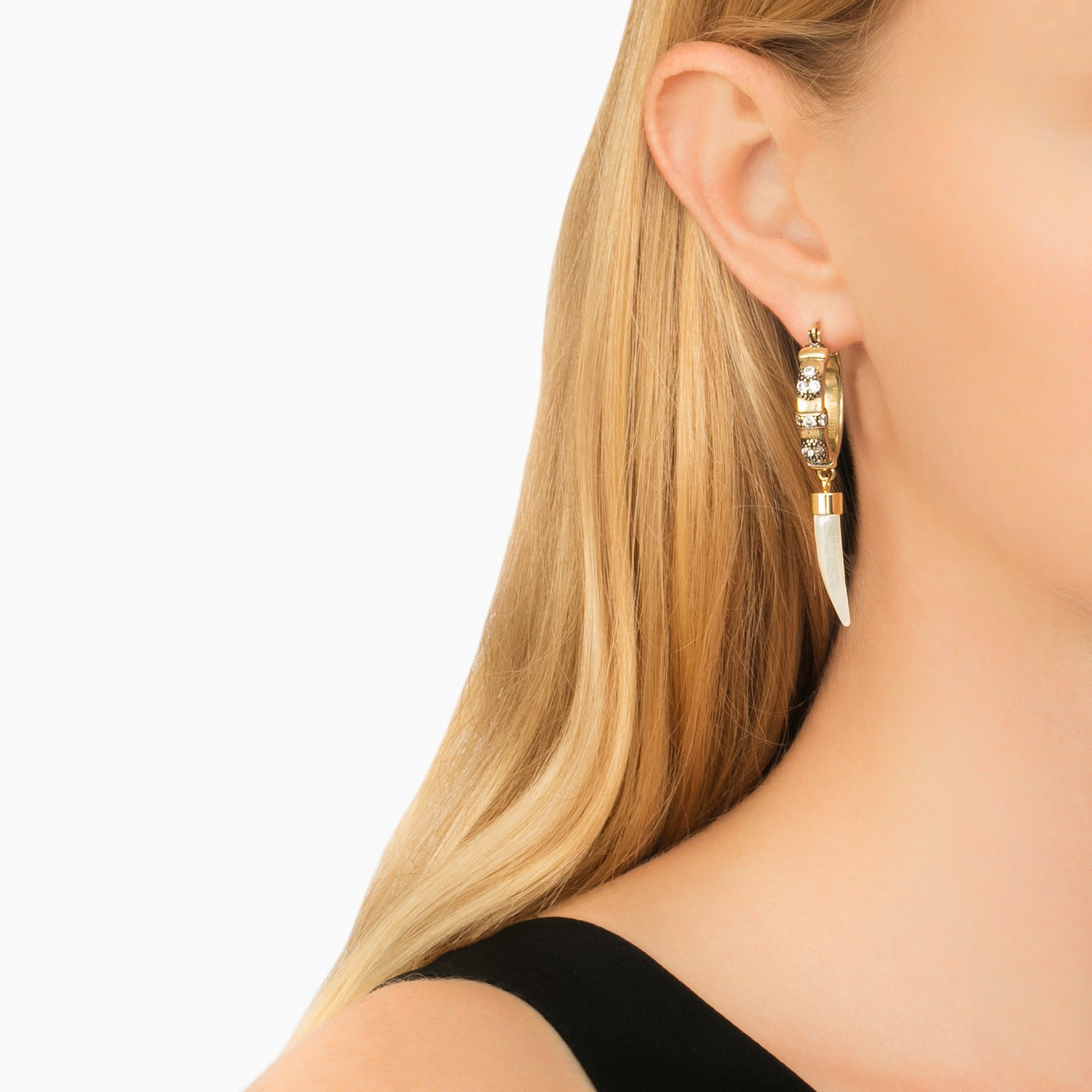 Hoop with Shell - Ioselliani - Earrings | Broken English Jewelry