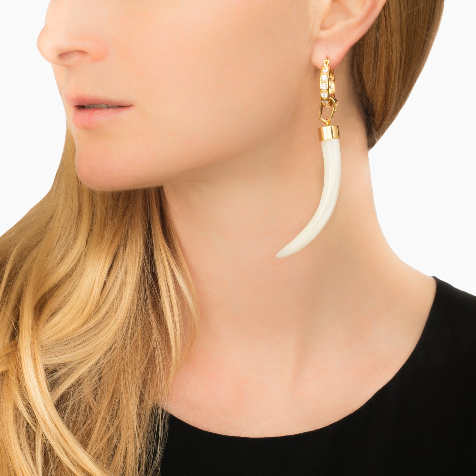 Hoop With Horn - Ioselliani - Earrings | Broken English Jewelry