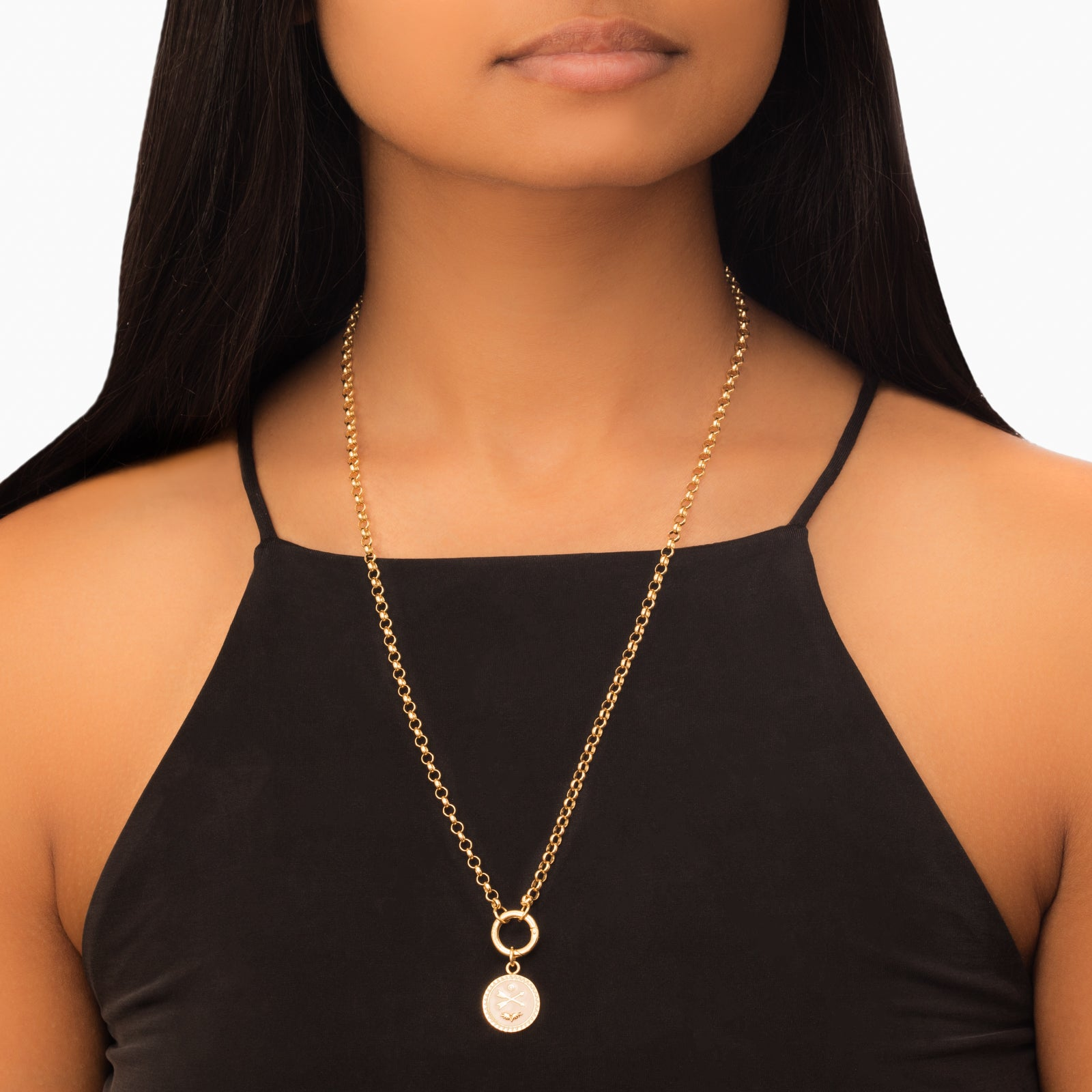 "Foundrae Medium Belcher Chain with Chubby Annex - 22"" - Necklaces - Broken English Jewelry"