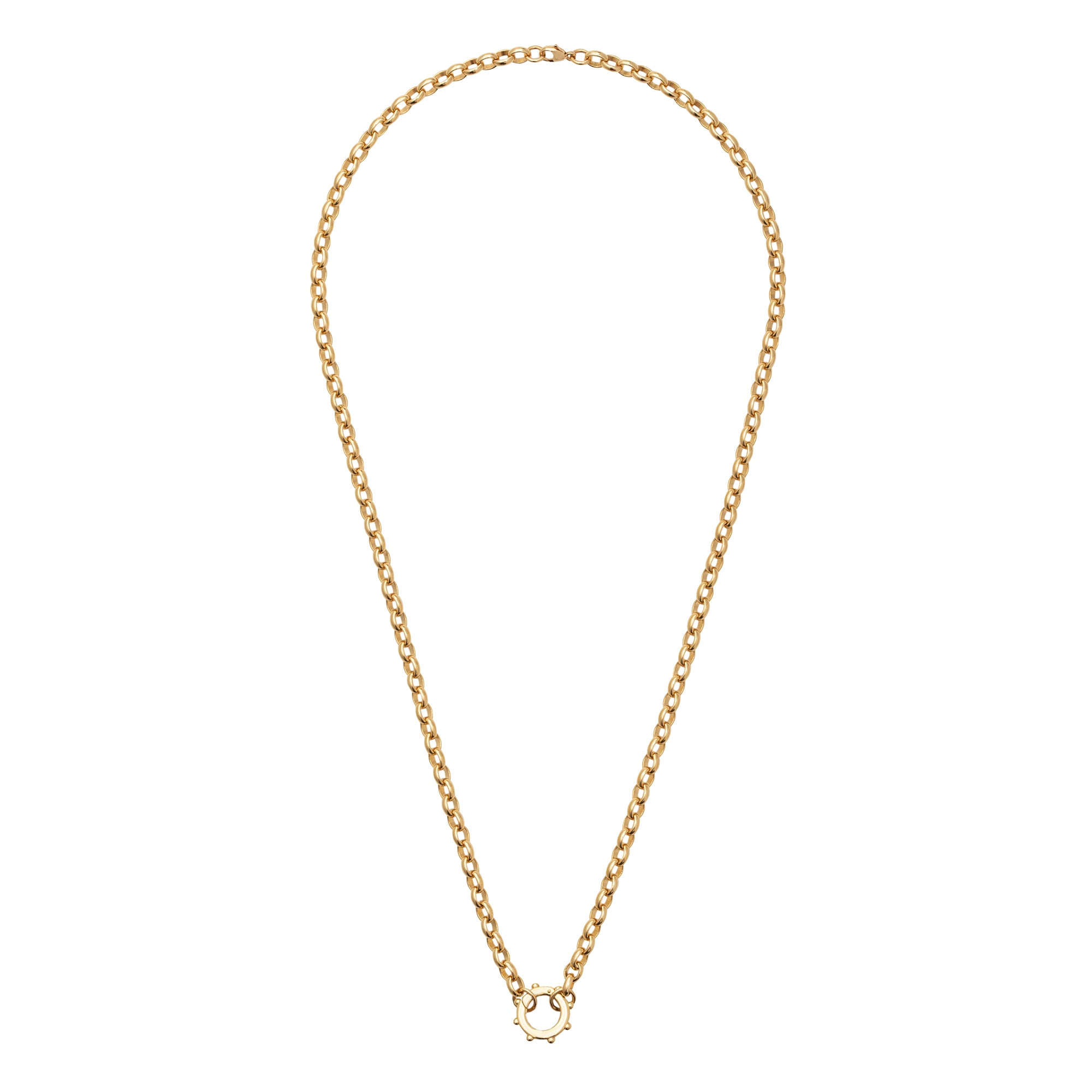 Heavy Belcher Chain with Chubby Dotted Annex Link - Foundrae - Necklaces | Broken English Jewelry
