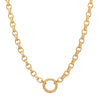 "Foundrae Large Belcher Chain with Chubby Annex - 22"" - Necklaces - Broken English Jewelry"