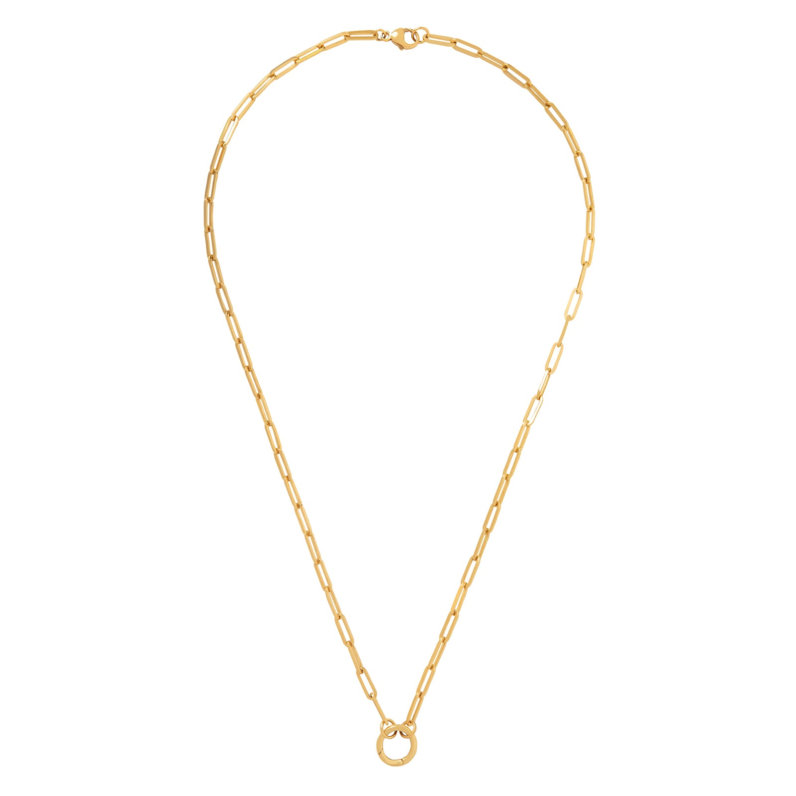 "Foundrae Classic FOB Clip Chain with Chubby Annex - 22"" - Necklaces - Broken English Jewelry"