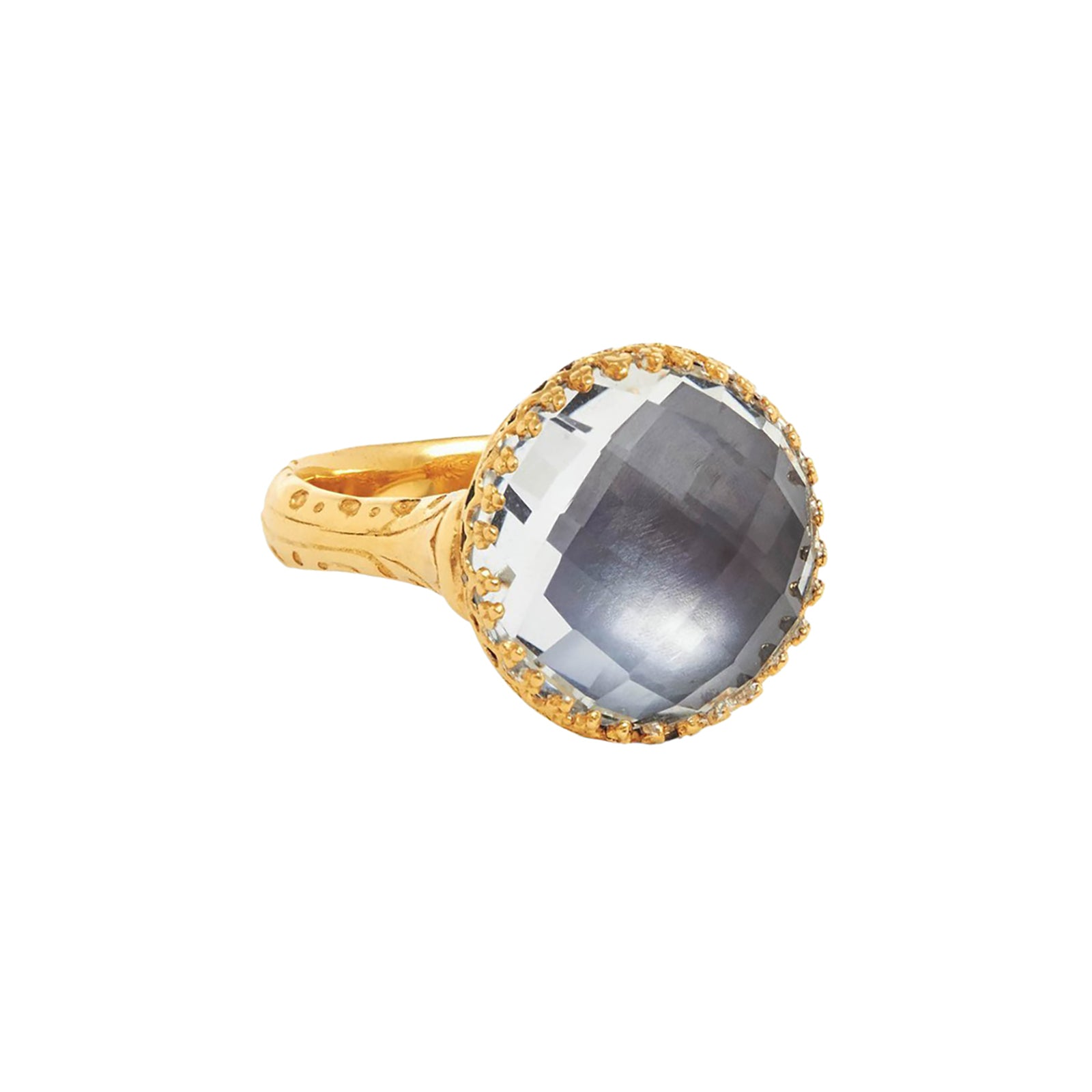 Larkspur & Hawk Olivia Button Ring - Grey - Rings - Broken English Jewelry