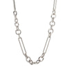 Foundrae Mixed Oversized Clip Necklace - White Gold - Necklaces - Broken English Jewelry