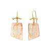 Annette Ferdinandsen One Of A Kind Pink Boulder Opal Slice Earrings - Earrings - Broken English Jewelry