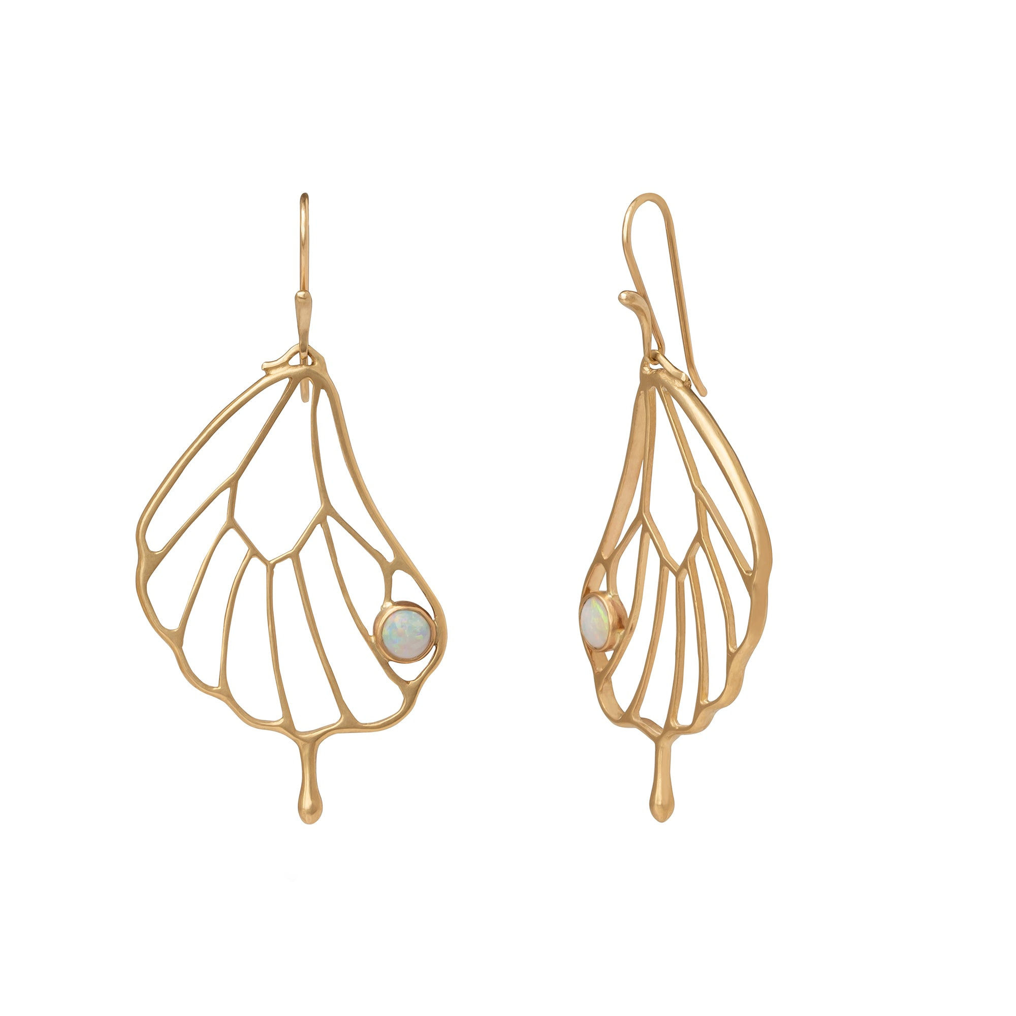 Pampion Wing Earrings - Annette Ferdinandsen - earrings | Broken English Jewelry